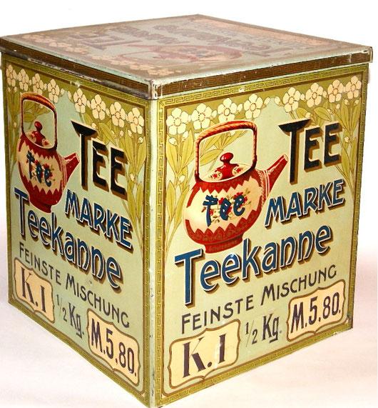 Teekanne Verkaufs Container