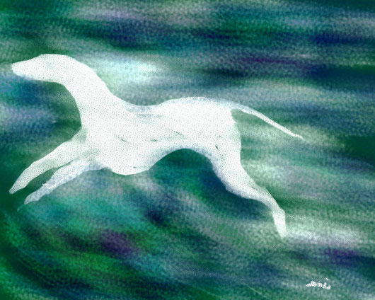 LS FATINA BIANCA - 2013 dipinto digitale - tecnica pastelli ad olio