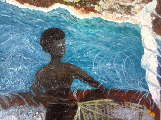 OCCHI DI MARE - 2012 olio su tela 35 x 45