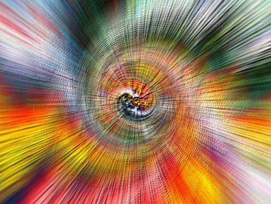 DISSOLUZIONI: EMOZIONI RADIALI - dipinto digitale 2013