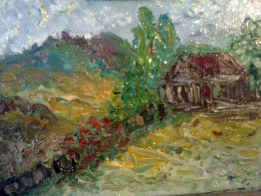 LA PICCOLA  CASA - 2012 olio su tela 13 x 18