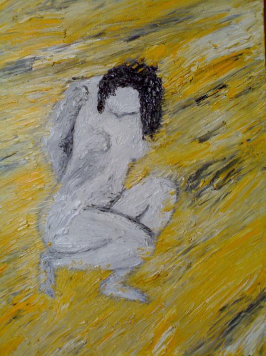 LA SOSTANZA DELL'INFINITO - 2008 olio su tela 35x45