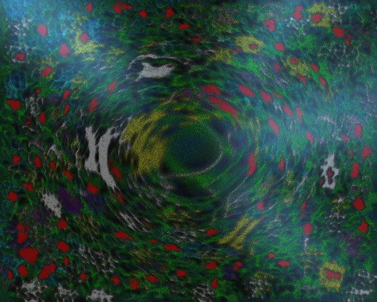 UN VOLO DI LUCE - 2012 dipinto digitale