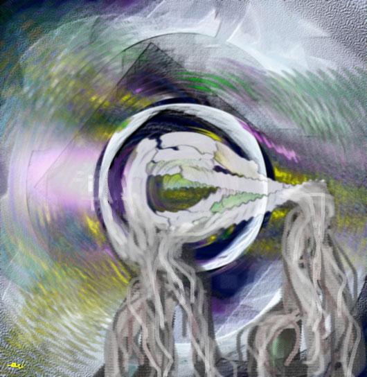 RESPIRI DI LACRIME - 2013 dipinto digitale tecnica mista