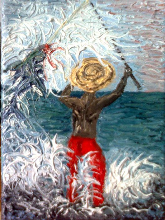 LA CATTURA - 2013 olio su tela 13 x 18