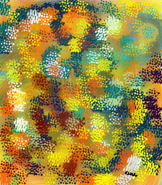 MONDI - 2012 dipinti digitali il primo eseguito con tecnica dry ink. i successivi applicando filtri distorcenti