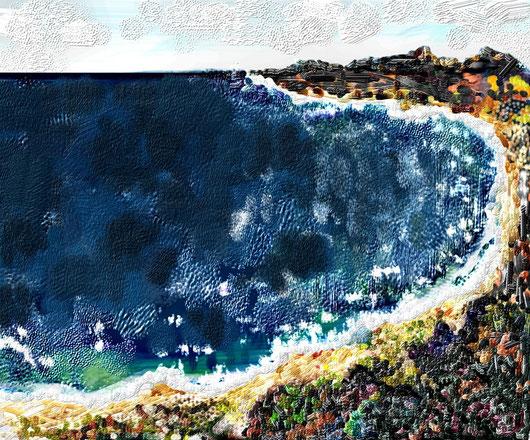 UN GOLFO - 2012 dipinto digitale eseguito al pc- tecnica impasto