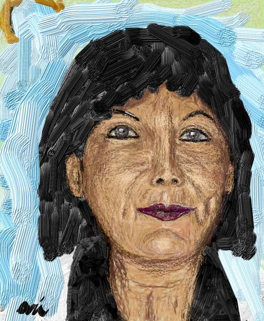RITRATTO DI ZIA MAIA- 2012 dipinto digitale tecnica impasto e artist van gogh