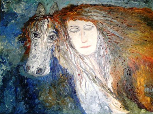 GUARDERO' SEMPRE CON I TUOI OCCHI - 2008 olio su tela 35 x 45