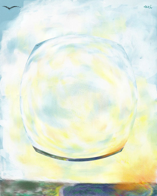 IL CIELO NEL CIELO - dipinto digitale - 2013 tecnica pastelli a cera