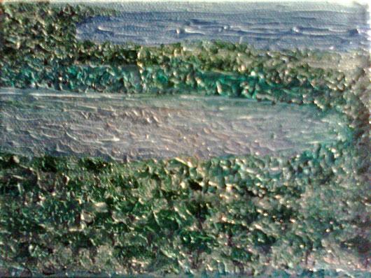 PINETA E PALUDE - 2011 olio su tela 13 x 18