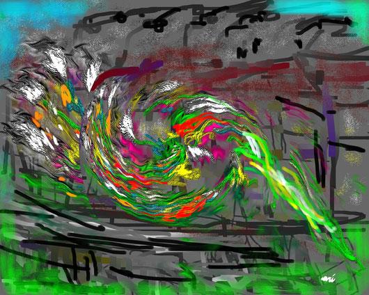NUPVA LINFA - 2013 dipinto digitale