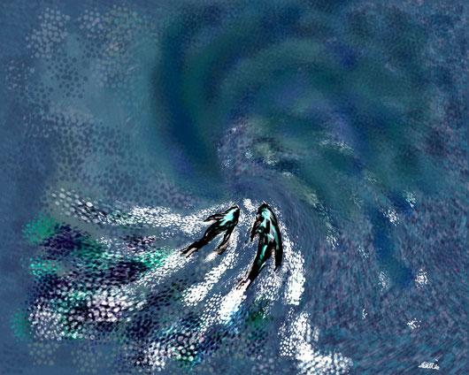 NEL VERO AMORE - 2013 - dipinto digitale tecnica penna stilografica