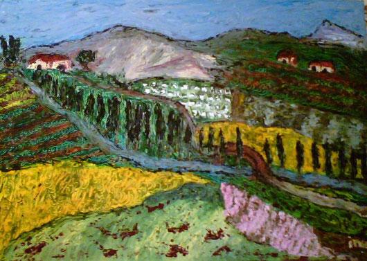 COLLINE DI ROMAGNA - 2008 olio su tela 35 x 45