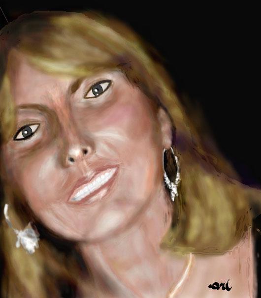 RITRATTO DI DANIELA CELENTANO - 2012 dipinto digitale -  tecnica aerografo