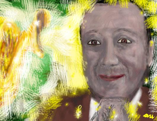 RITRATTO DI GIACOMO GILIO - 2012 dipinto digitale tecnica pastelli