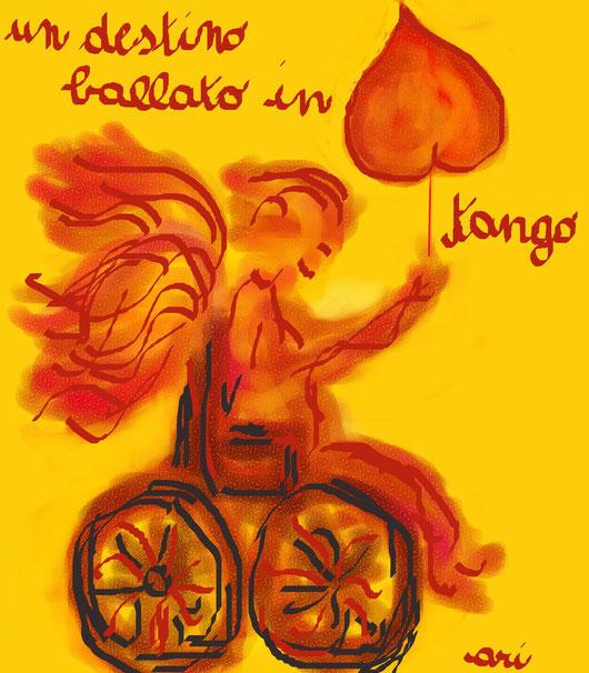 UN DESTINO BALLATO IN TANGO - 2012 depinto digitale - pastelli ad olio