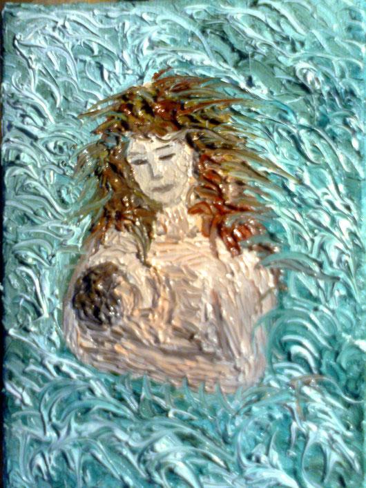 MADRE PER SEMPRE - 2012 olio su tela 13 x 18