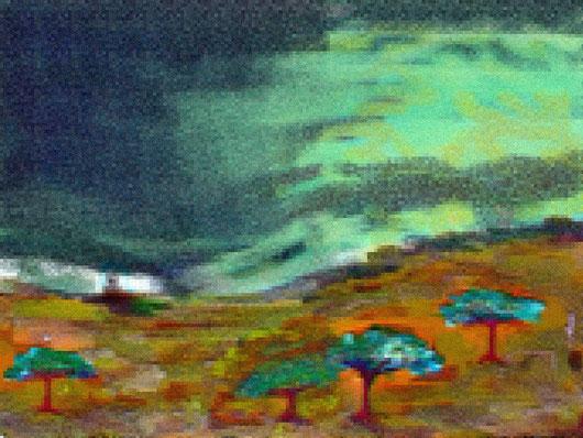 VILHA DO MAIO: L'AURORA DALLA MIA FINSTRA - 2013 dipinto digitale