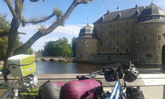Auch das Schloss in Örebro lag an der Strecke.