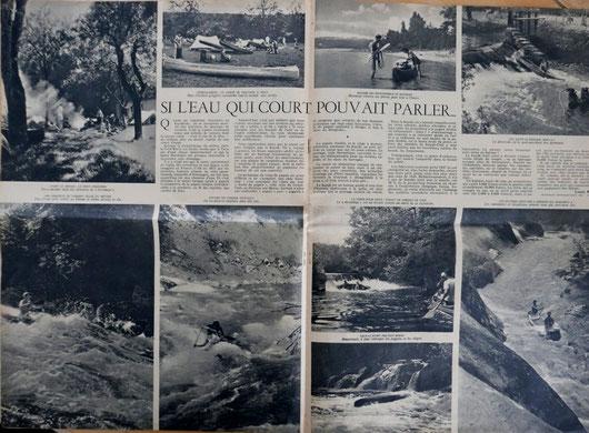 ROGER, Si l'eau qui court pouvait parler…, in revue Noir et Blanc n° 132, 1947 (la Bibli du Canoe)