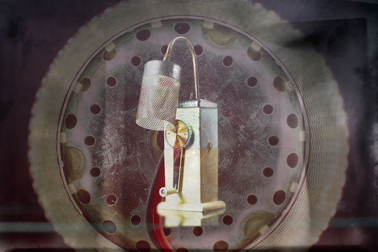 Brise Glace: lampe upcycling fabriqué à partir d'un casse glace