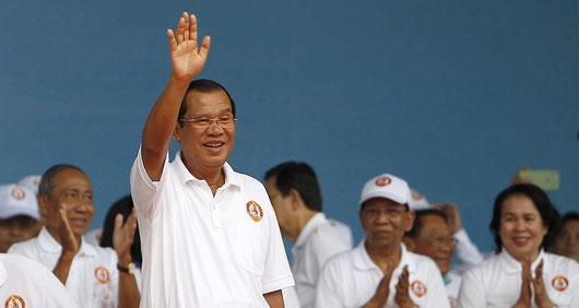 Hun Sen est au pouvoir depuis trente trois ans . Il a fait le vide autour de lui. (Heng Sinith/AP/SIPA)