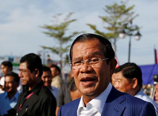 Un haut responsable chinois a félicité jeudi le Premier ministre Hun Sen pour la victoire de son parti aux élections législatives et mis en garde contre toute ingérence étrangère après les accusations de fraude de l'opposition (REUTERS/Samrang Pring)