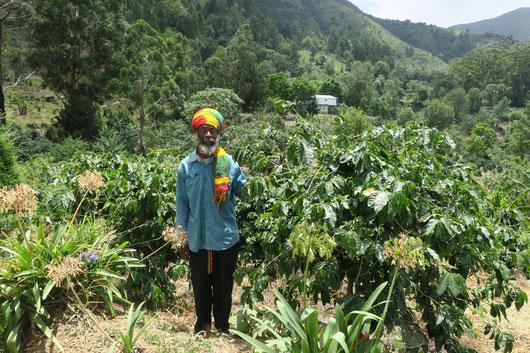 Jah B at his farm