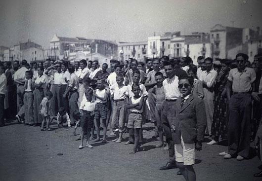 Agost 1942, regata que definirà el model únic de patí català (Fons Horro, Vilanova i la Geltrú 1942)