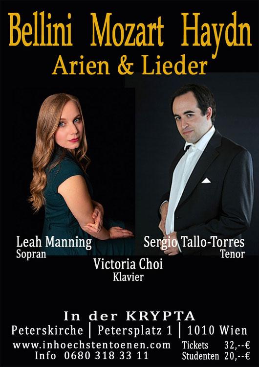 Bellini Mozart Haydn   Leah Manning & Sergio Tallo-Torres  in der KRYPTA