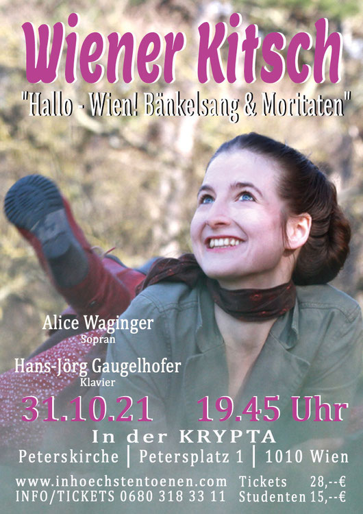 WIENER KiTSCH  Alice Waginger Am Klavier: Hans-Jörg Gaugelhofer in der KRYPTA