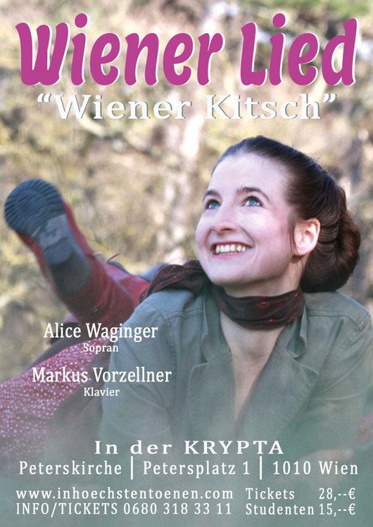 WIENER LIED - die Originale   Alice Waginger Am Klavier: Hans-Jörg Gaugelhofer in der KRYPTA