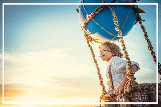 Kind im Ballon, Freude und Freiheit