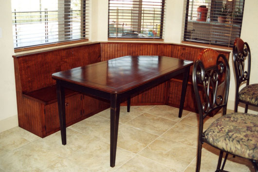 breakfast nook and table
