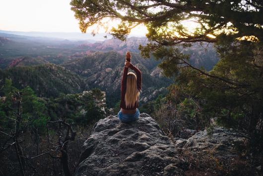 Meditieren mit Aussicht