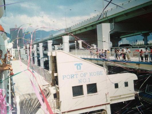 当時神戸と天津を結んでいた船「燕京号」に、北京留学のため乗船した際の写真(提供:寺尾ブッタ)