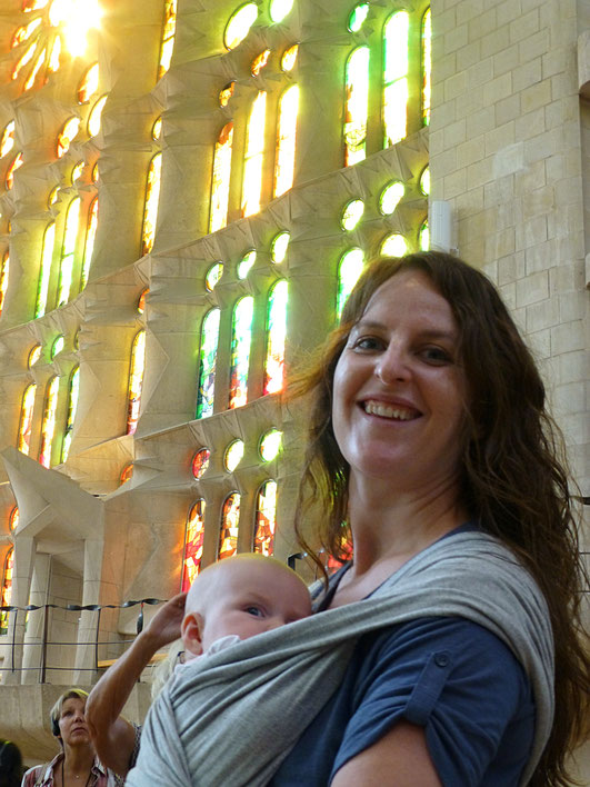 Sagrada Familia Barcelona with Baby