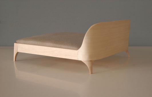 philou design, Bettentwurf, Holz und Leinen