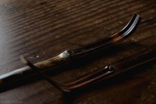 荒抂げをした煤竹。ここから茶杓を削り出します|Fujifilm X-T20 & XF18-55mm