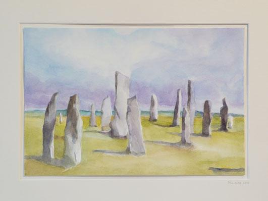 Callanish standing stones II (Isle of Lewis, sold) 32.5cmx42.5cm