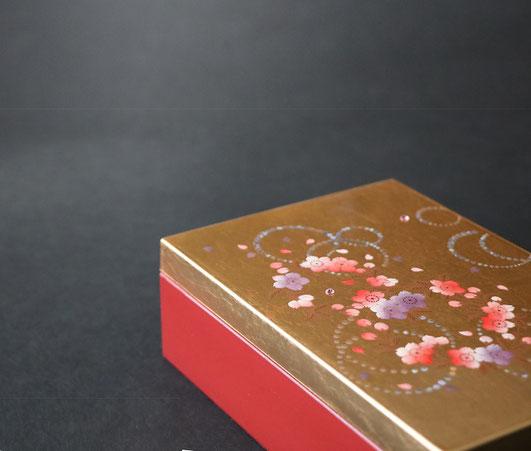 山中塗 かりん アクセサリーBOX 宝石箱