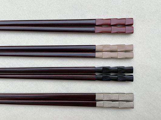 箸 市松|鎌倉漆工房いいざさ