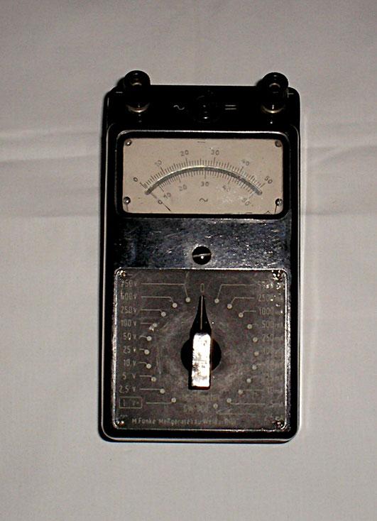 Max Funke Adenau / Eifel - Multimeter  GW 500 von ca. 1950