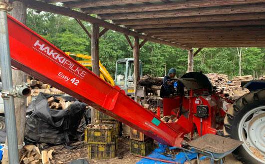量産可能な薪製造機