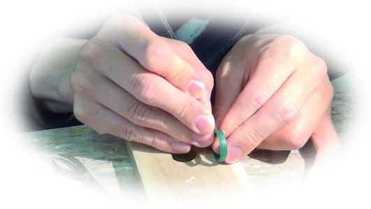 手作り結婚指輪太陽