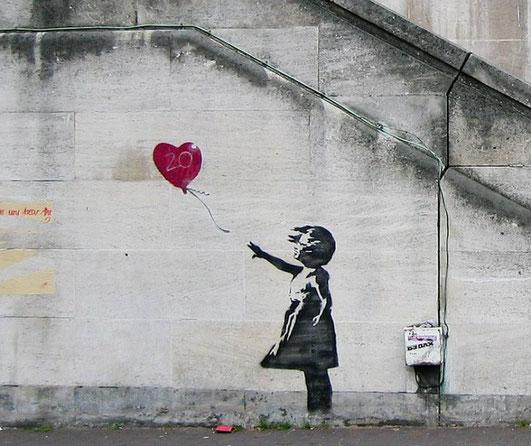 Девочка с воздушным шаром - Бэнкси