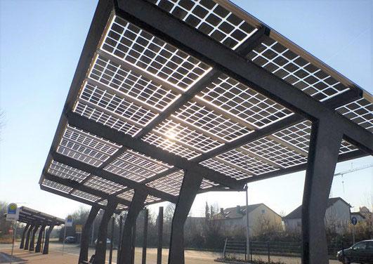Bushaltestelle Photovoltaik Solar