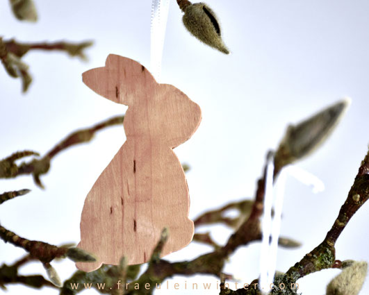 DIY - Osterhase aus Holzfurnier | Fräulein Winter