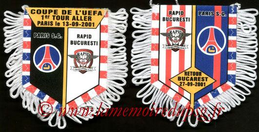 Fanion PSG-Rapid Bucarest 2001-02
